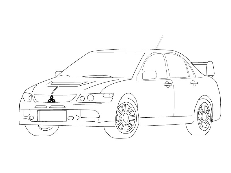 traceable car pictures line drawing of car at getdrawings free download traceable pictures car