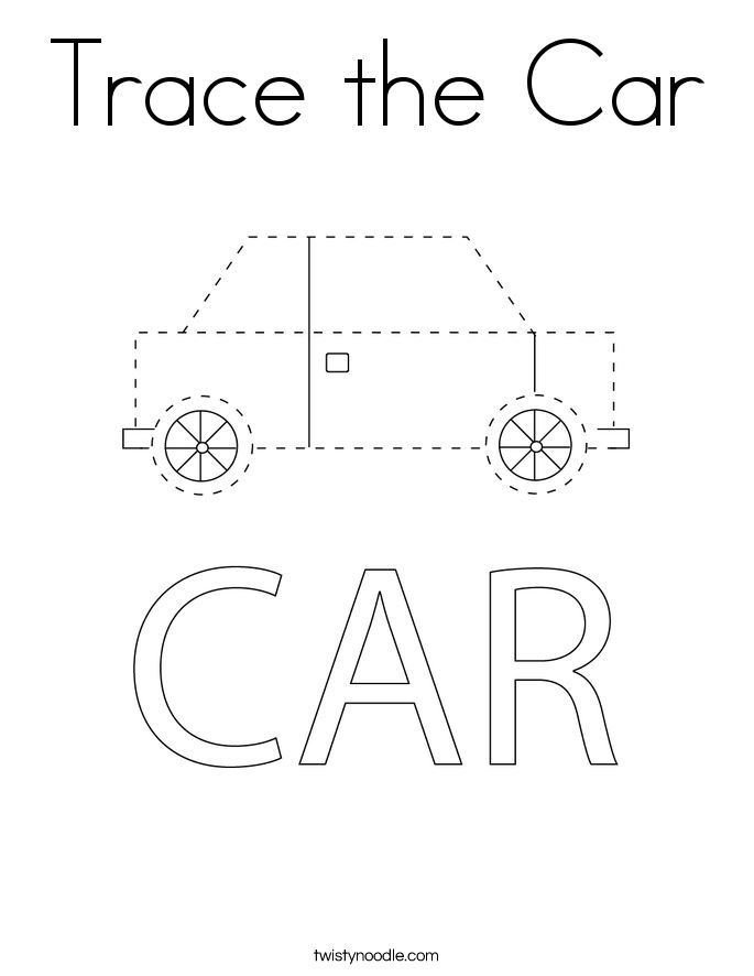 traceable car pictures police car worksheet twisty noodle police cars pictures car traceable