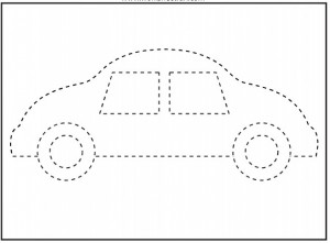 traceable car pictures trace the pattern race car worksheet prekautismcom pictures traceable car