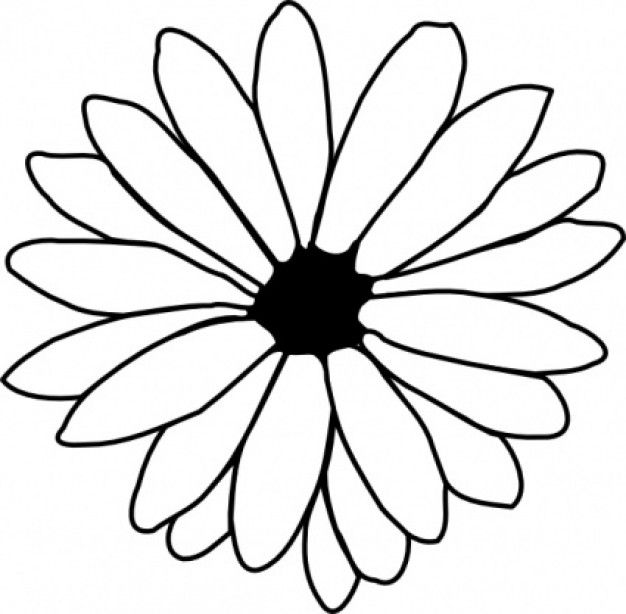 traceable pictures of flowers flower trace clipart best flowers traceable pictures of