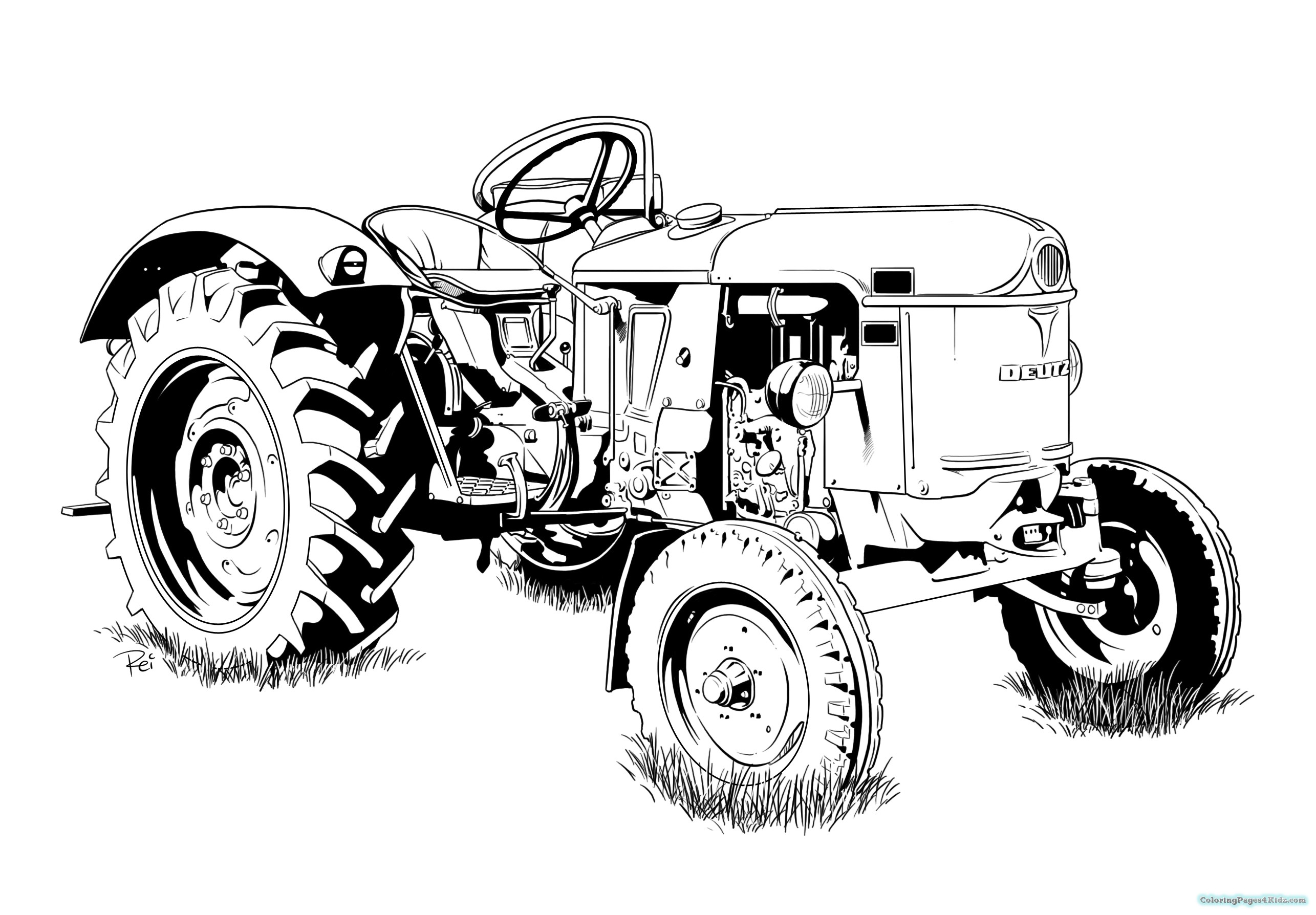 tractor color pages tractor coloring pages at getdrawings free download color tractor pages