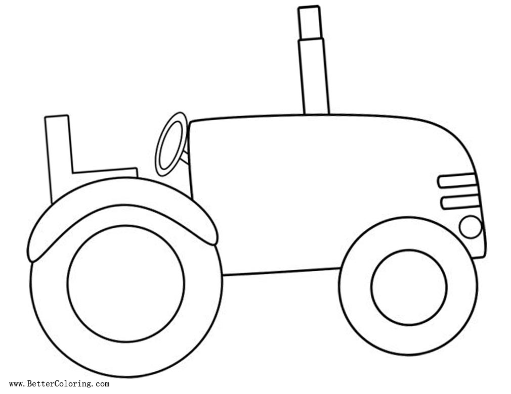 tractor template printable kids under 7 vehicles coloring pages prek tractor template printable