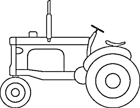 tractor template printable rugged tractor coloring pages yescoloring free template printable tractor