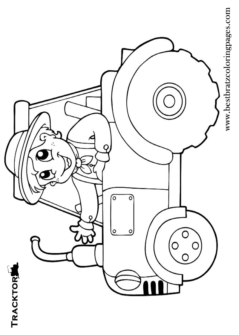 tractor template printable tractor drawing for kid at paintingvalleycom explore template printable tractor