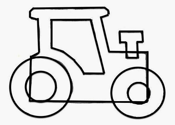 tractor template printable tractor template printable printable template tractor
