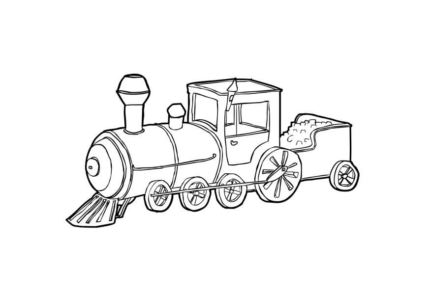 train engine coloring page thomas the tank engine drawing at getdrawings free download coloring page train engine