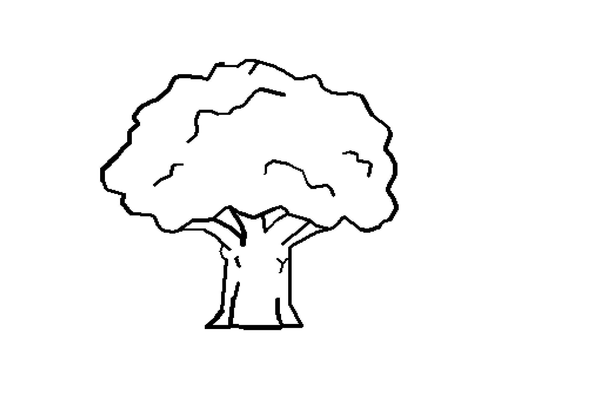 tree clipart coloring bare tree image clipart best coloring clipart tree