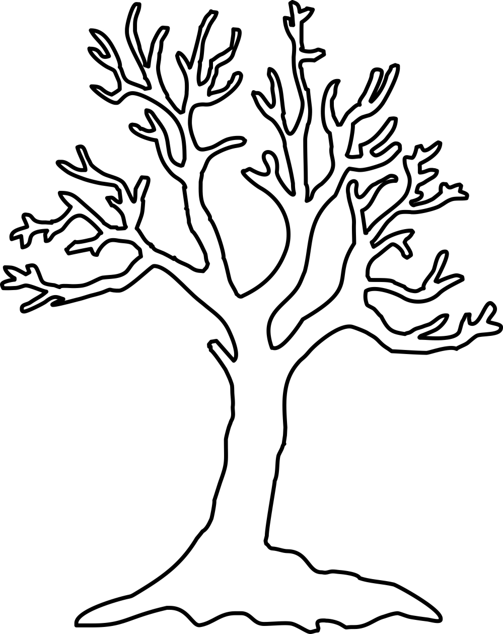 tree clipart coloring best christmas tree outline 7027 clipartioncom tree clipart coloring