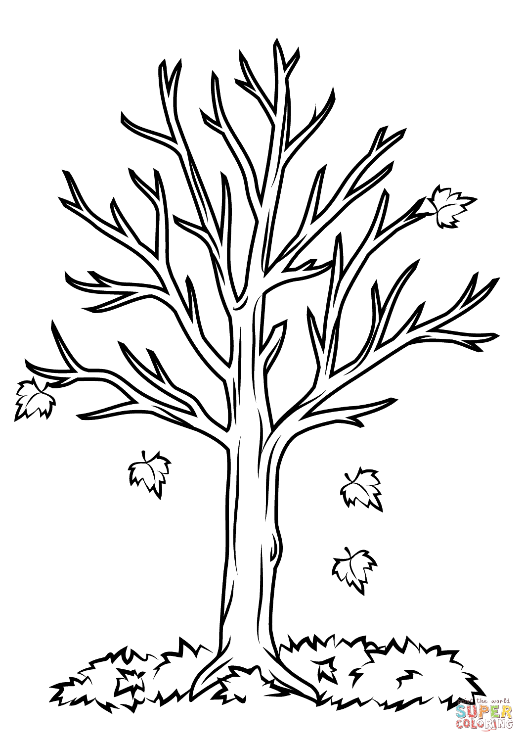 tree clipart coloring tree drawing outline at getdrawings free download coloring clipart tree