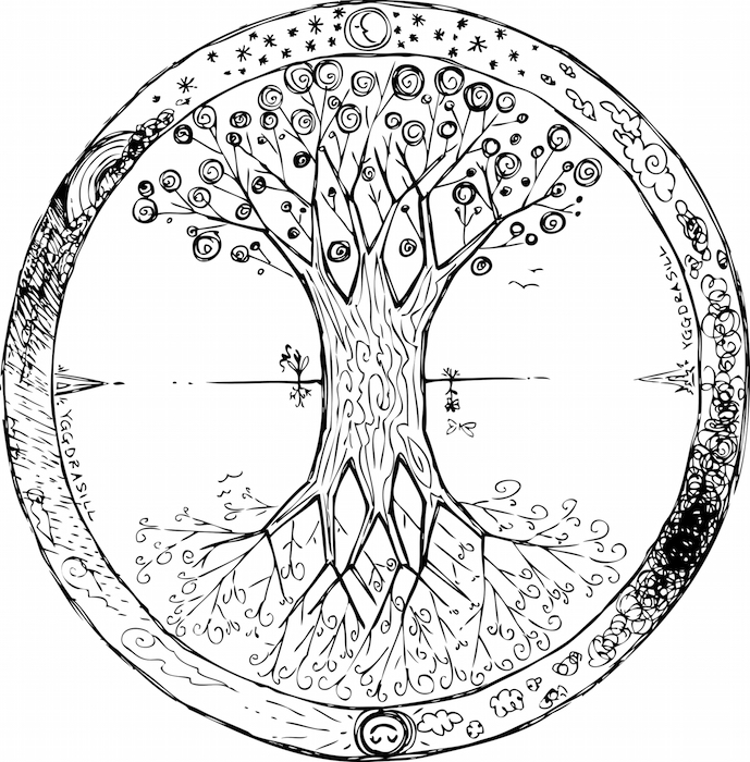 tree mandala coloring pages a personal favorite from my etsy shop httpswwwetsycom pages mandala tree coloring