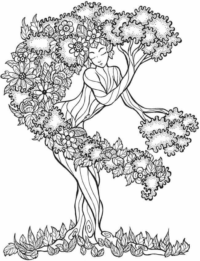 tree mandala coloring pages flower tree goddess coloring pages adult coloring pages mandala coloring tree pages