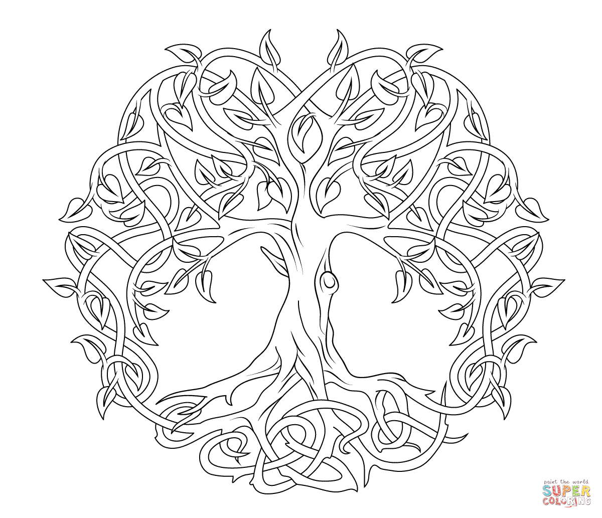 tree mandala coloring pages tree coloring page 5 pinteres pages tree coloring mandala