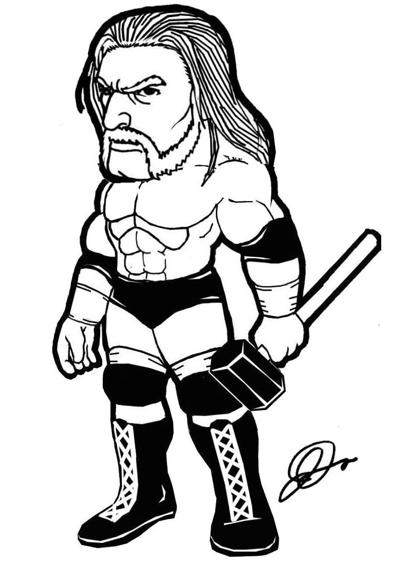 triple h coloring pages triple h from world wrestling entertainment coloring page triple coloring pages h