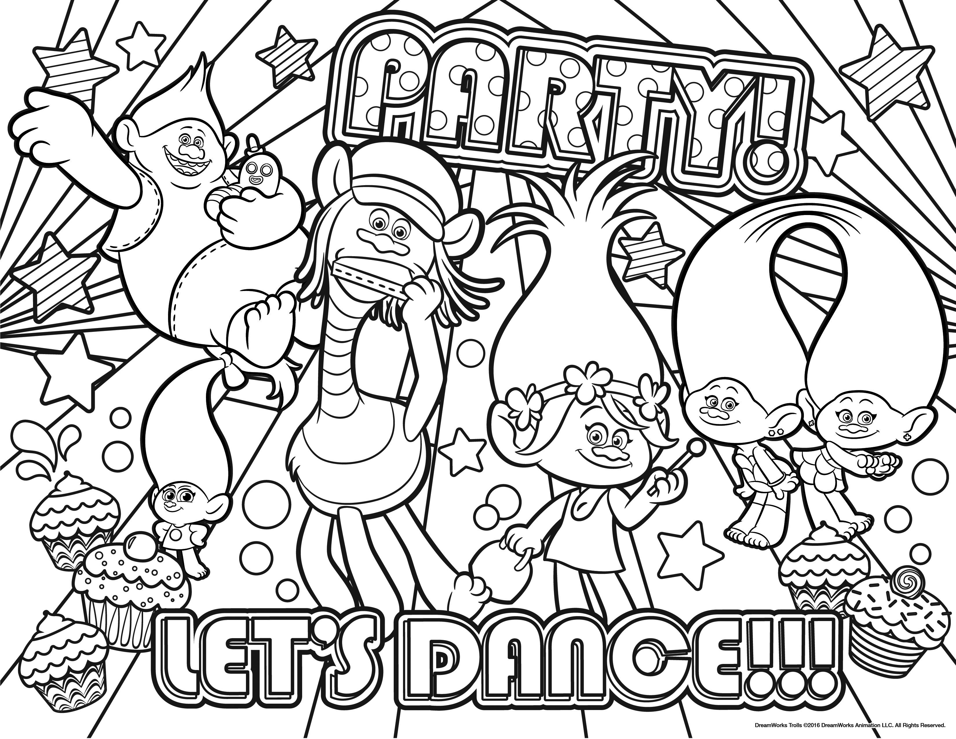 trolls coloring pages troll doll coloring page at getdrawings free download coloring trolls pages