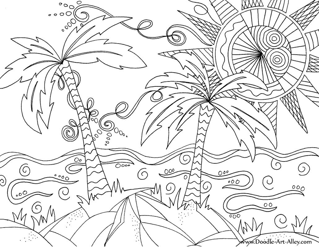 tropical beach coloring pages beach sunset coloring pages at getcoloringscom free coloring pages tropical beach