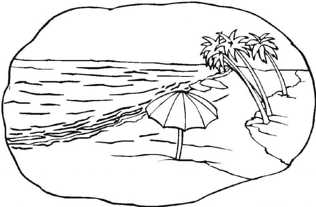 tropical beach coloring pages pin on painting coloring tropical beach pages