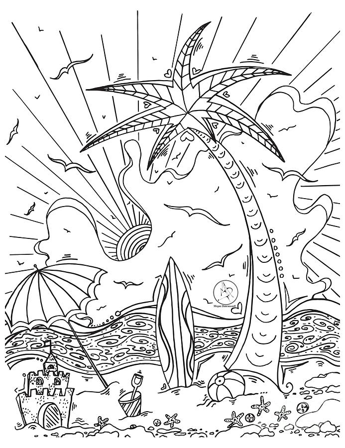 tropical coloring sheets coloring page with beautiful tropical surf island drawing coloring tropical sheets