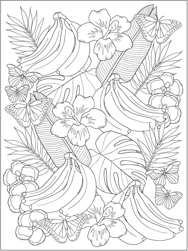 tropical coloring sheets welcome to dover publications flower coloring pages coloring sheets tropical