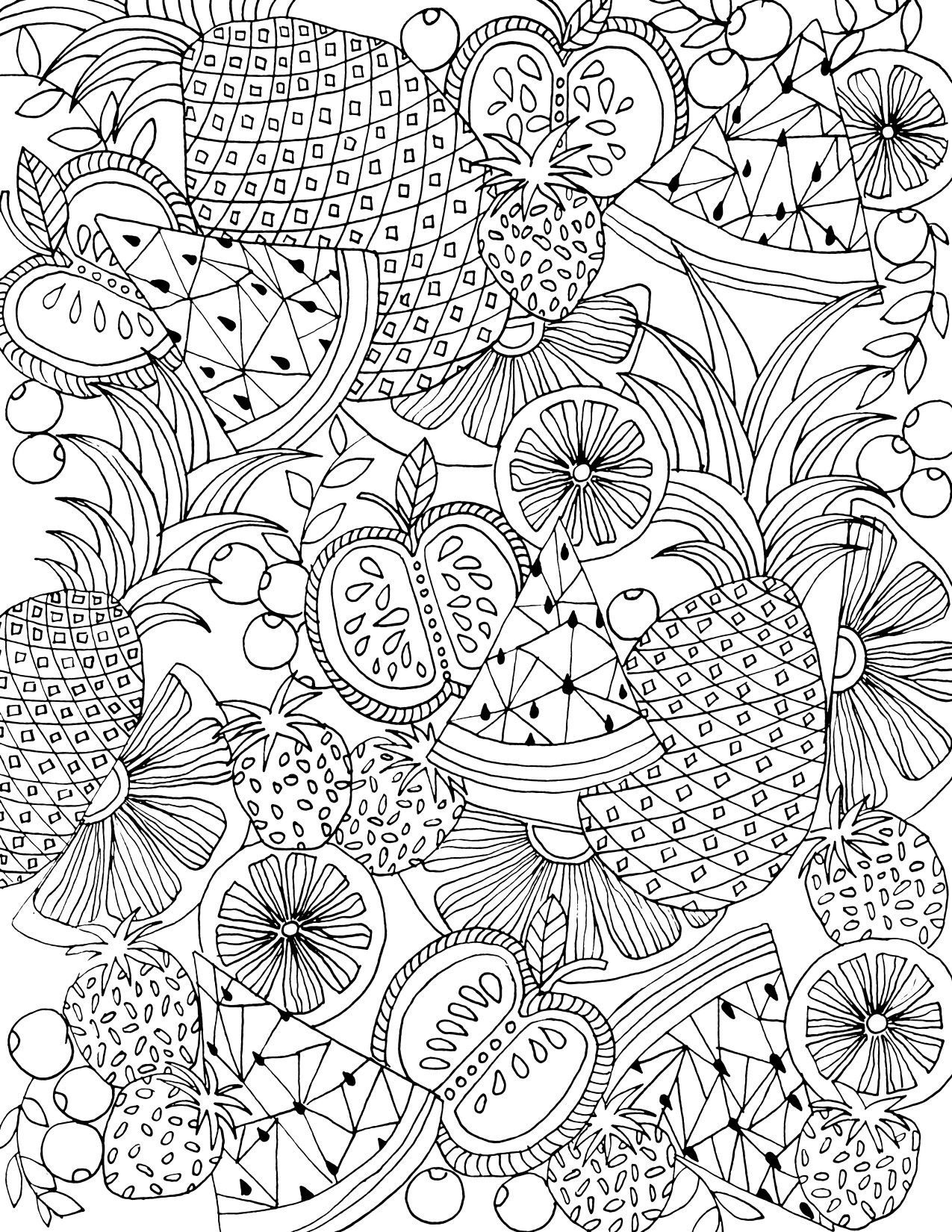 tropical fruits coloring pages learn to coloring january 2012 tropical fruits pages coloring