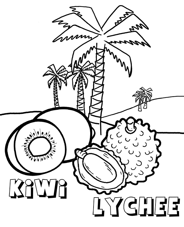 tropical fruits coloring pages line of fruit clipart in color 20 free cliparts download pages tropical fruits coloring