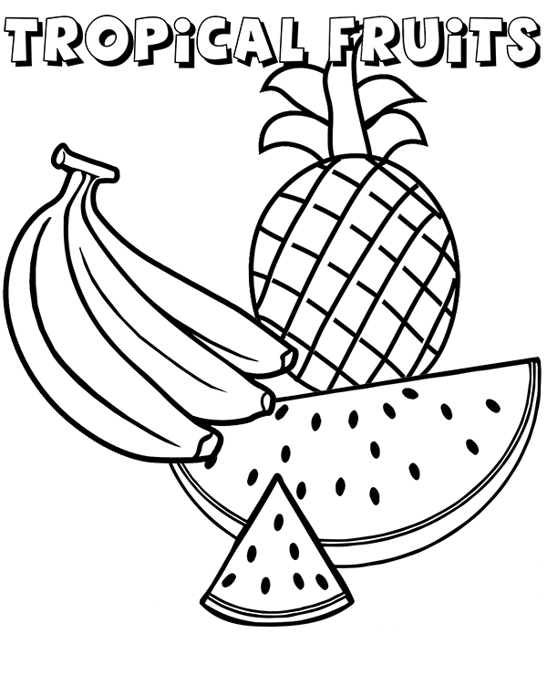 tropical fruits coloring pages tropical fruits coloring pages ideas fantasy coloring pages fruits tropical coloring pages