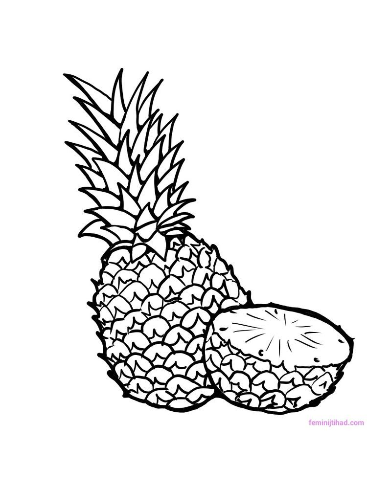 tropical fruits coloring pages tropical pineapple coloring page coloringcrewcom tropical coloring pages fruits