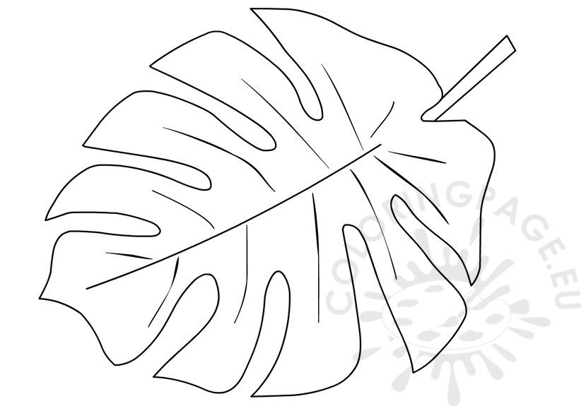 tropical leaf coloring tropical leaf coloring page flowers templates coloring leaf tropical