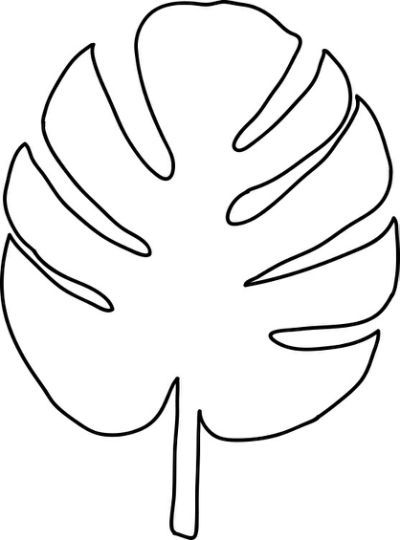tropical leaf coloring tropical leaves coloring pages at getcoloringscom free leaf tropical coloring