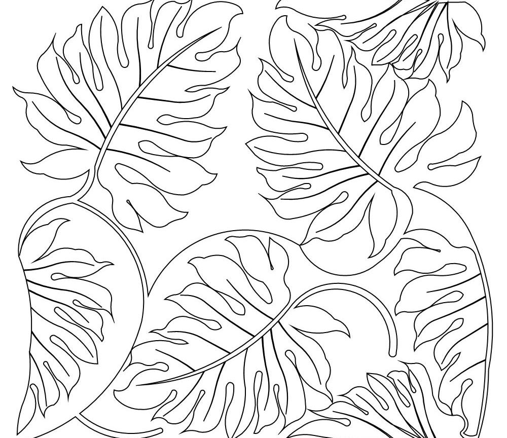 tropical leaf coloring tropical leaves coloring pages at getdrawings free download leaf coloring tropical