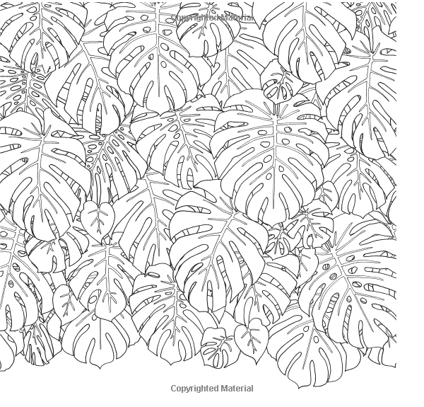 tropical leaf coloring tropical leaves vector pattern vector seamless pattern leaf coloring tropical
