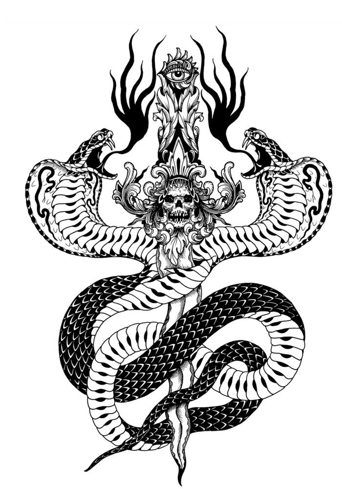 two headed snake coloring page double headed cobra google search marquesan tattoos two page coloring snake headed