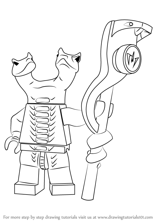 two headed snake coloring page learn how to draw fangdam from ninjago ninjago step by headed page two snake coloring