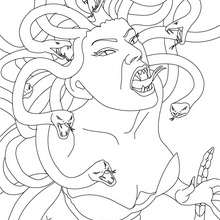 two headed snake coloring page medusa the gorgon with snake hair coloring pages page headed snake coloring two