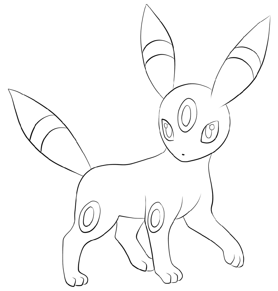 umbreon coloring pages 37 best images about pokemon coloring pages on pinterest umbreon coloring pages