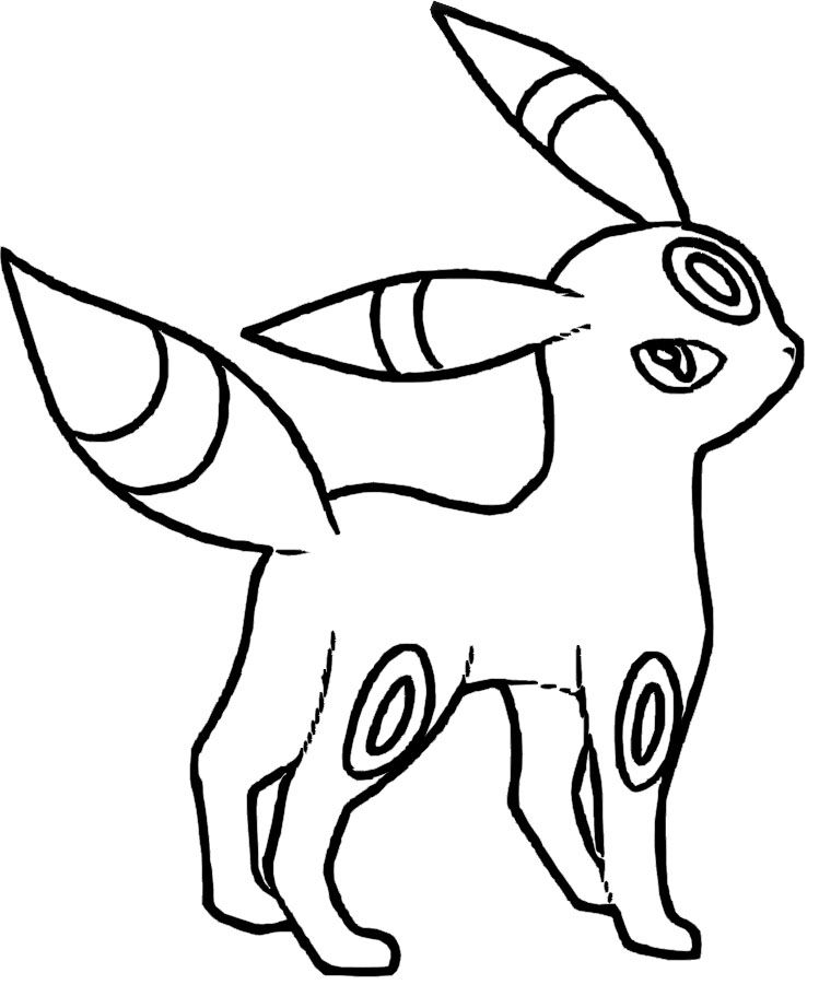 umbreon coloring pages pokemon umbreon coloring pages coloring home umbreon coloring pages