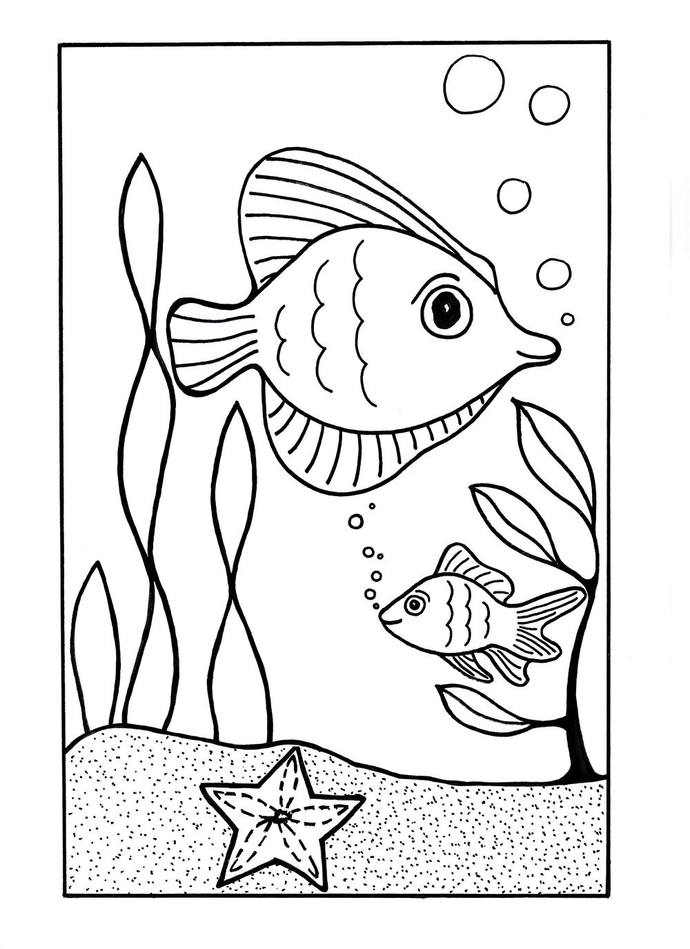 under the sea coloring free under the sea coloring pages to print for kids coloring sea the under