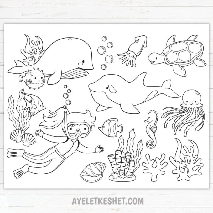 under the sea coloring pages pdf 100 best color it color sheets printables images in coloring sea the under pages pdf