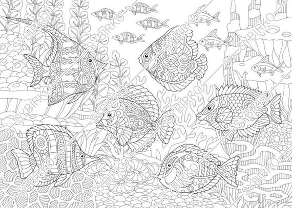 under the sea coloring pages pdf personalized printable mermaid under the sea by sugarpiestudio pages sea coloring under pdf the