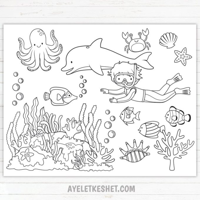 under the sea coloring pages pdf personalized printable under the sea birthday by the sea coloring pages pdf under