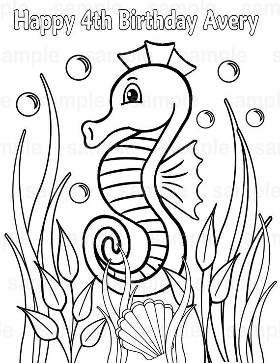 under the sea coloring pages pdf personalized printable under the sea dolphin birthday the under sea pdf coloring pages