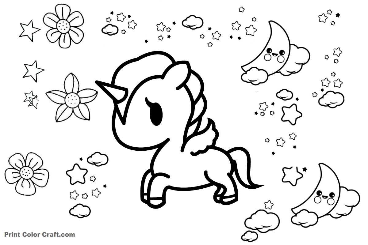 unicorn anime coloring pages coloring pages for girls unicorn at getcoloringscom unicorn anime pages coloring
