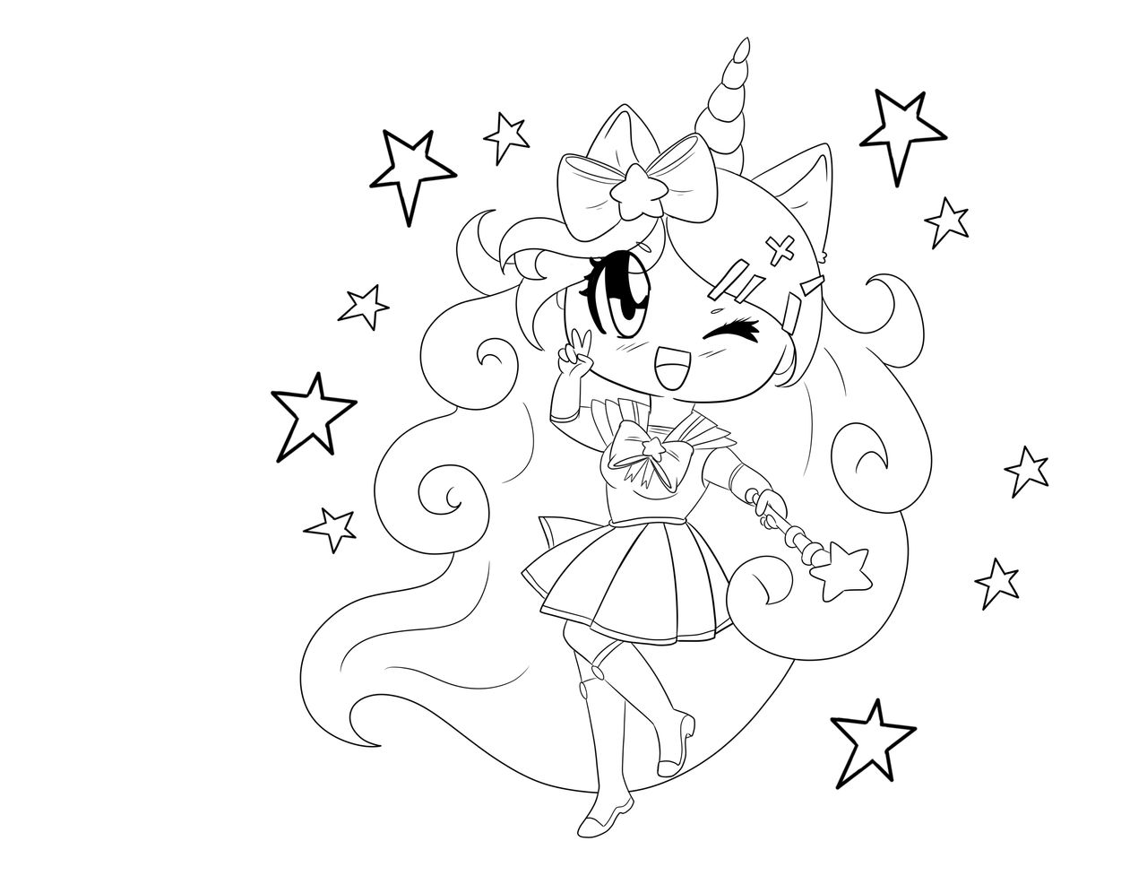unicorn anime coloring pages coloring pages unicorn coloring pages online coloring coloring anime unicorn pages