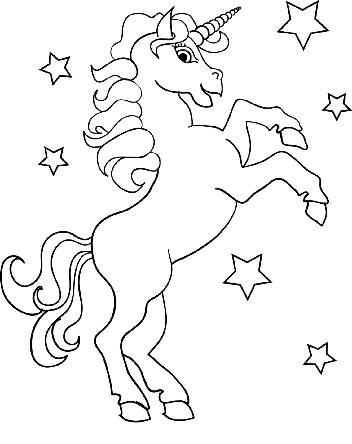 unicorn color page free printable unicorn coloring pages for kids unicorn color page