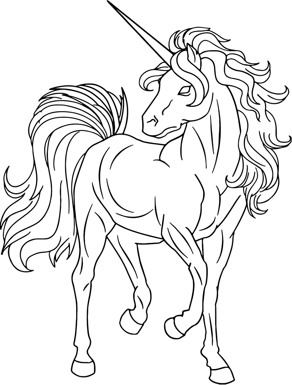 unicorn color page special needs coloring pages learny kids unicorn page color