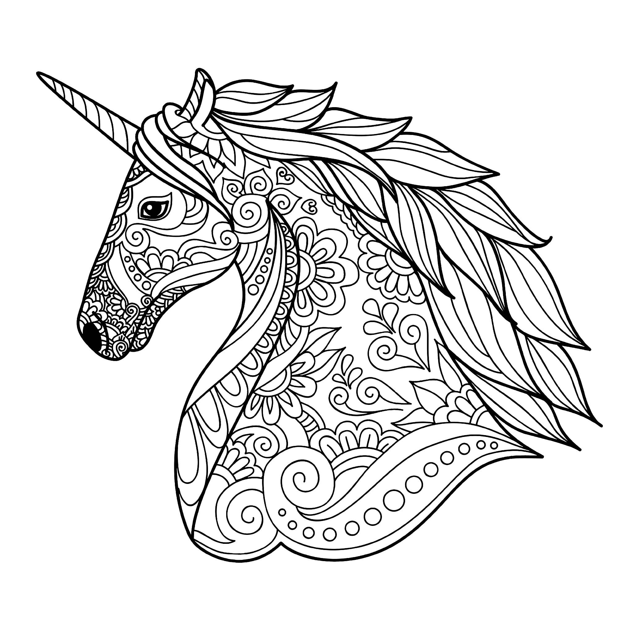 unicorn color page unicorn coloring pages to download and print for free color unicorn page 1 1