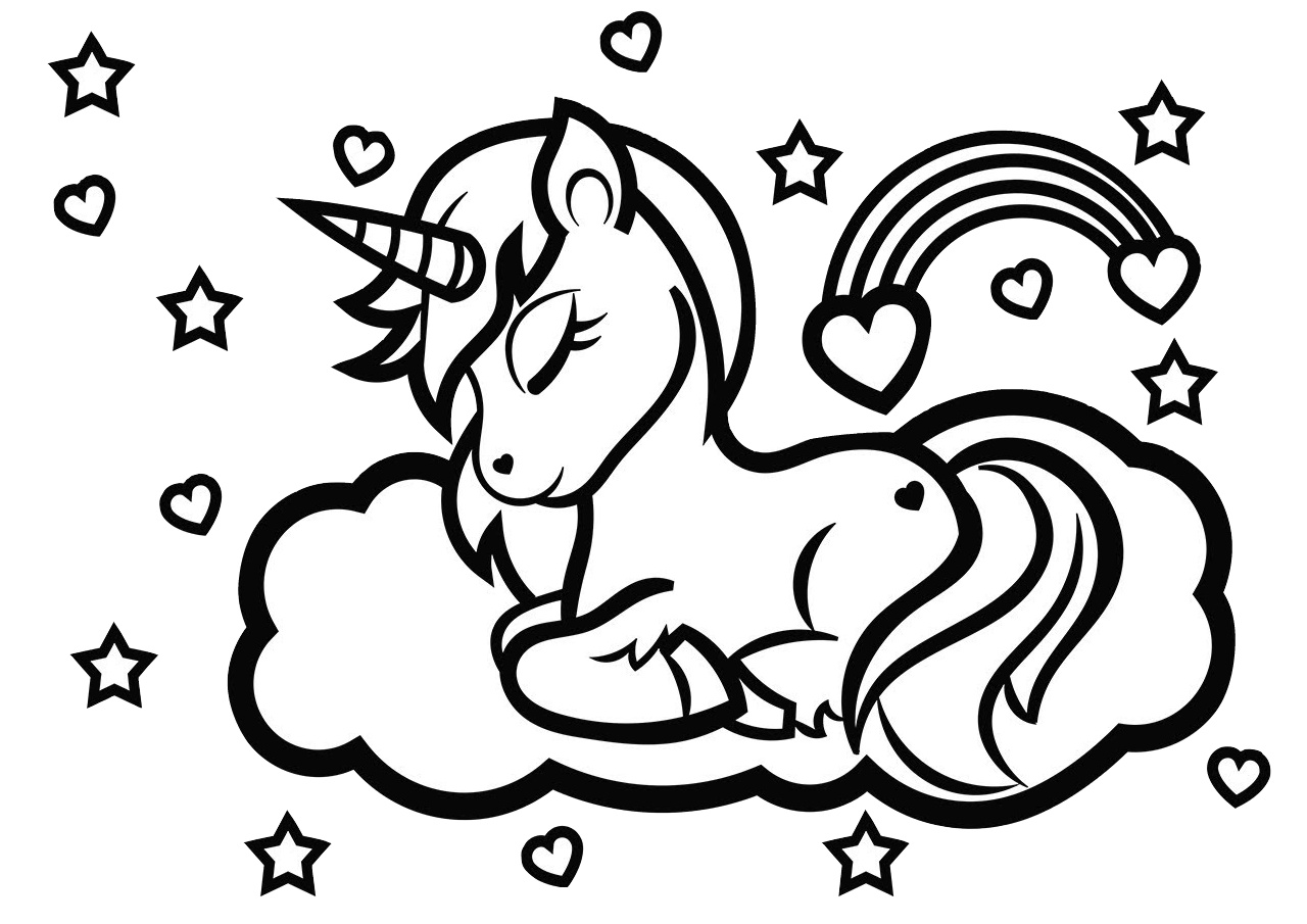 unicorn coloring unicorn drawing a magical unicorn a coloring page taianomainen unicorn unicorn drawing coloring