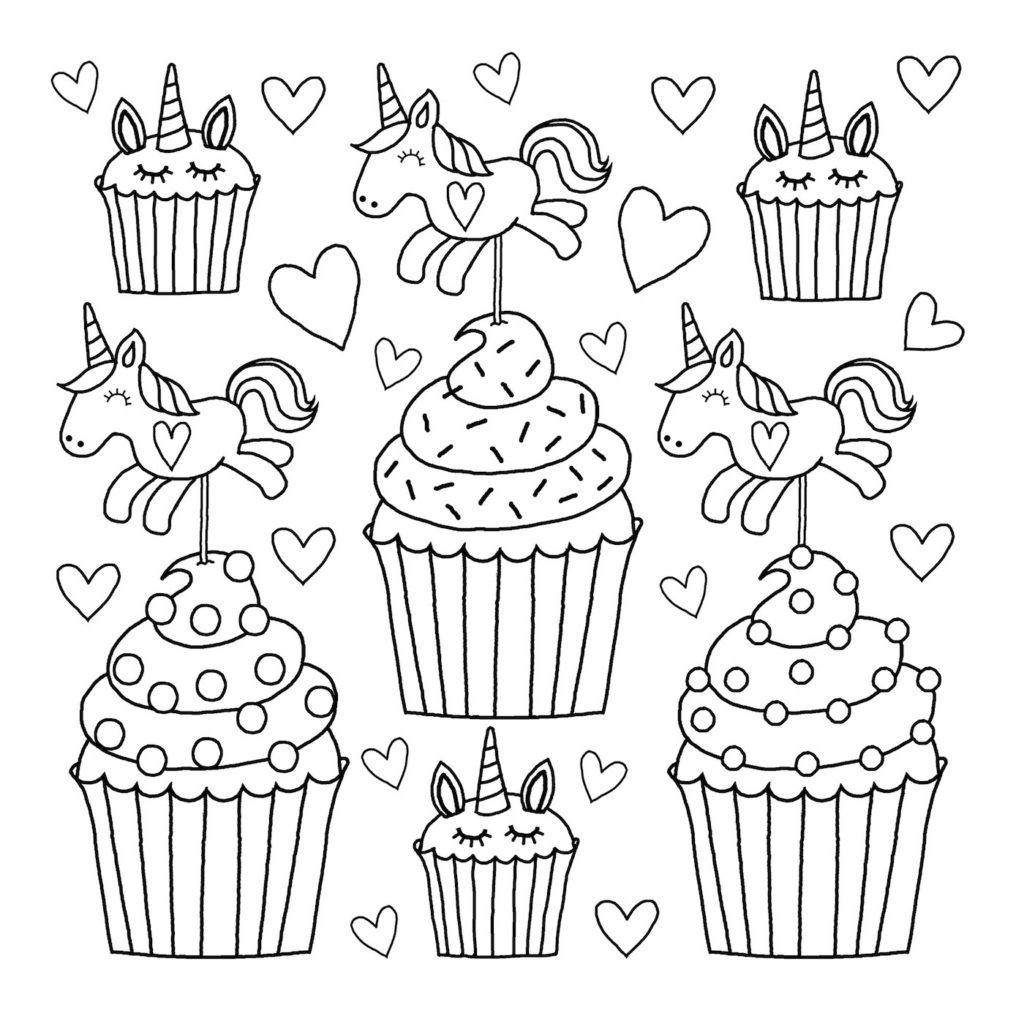 unicorn cupcakes coloring pages 10 best unicorn cupcake coloring pages coloring play cupcakes pages unicorn coloring