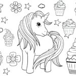 unicorn cupcakes coloring pages 48 adorable unicorn coloring pages for girls and adults coloring unicorn pages cupcakes