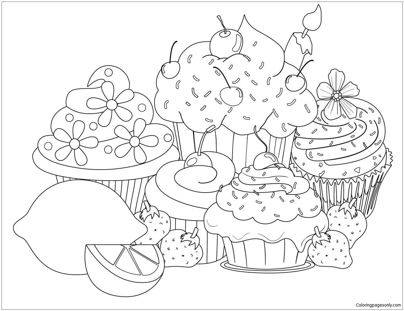 unicorn cupcakes coloring pages beautiful sweet cupcake coloring pages food coloring coloring cupcakes unicorn pages