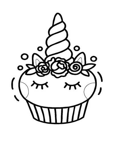 unicorn cupcakes coloring pages free printable unicorn colouring pages for kids buster cupcakes coloring pages unicorn